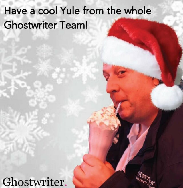 As we close the Ghostwriter offices for Christmas, we'd like to thank everyone for their support this year and here's hoping the events industry comes back bigger, stronger and better next year! 🥂