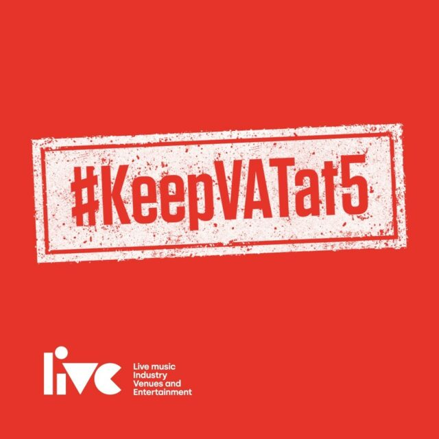 The current 5% VAT rate on tickets is due to be reversed in March, so we are joining with our friends and colleagues in the industry to ask that the government #KeepVATat5⁠ ⁠ This increase in VAT will impact the entire ecosystem – the crews, the artists, venues and all employees – just when we need help to survive and recover the most. ⁠ ⁠ Maintaining the 5% rate for the next 3 years will make a significant impact on our sector's recovery. Right now financial support is vital to the survival of our iconic industry. ⁠ ⁠ Please support #KeepVATat5 🙌⁠ ⁠ #WeMakeEvents #LetTheMusicPlay #SaveOurVenues #EventsProfs
