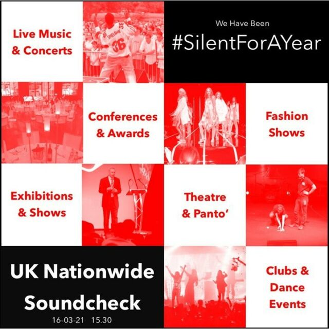 Today the events industry and arts have been #SilentForAYear  Over the past year hundreds of thousands of event professionals, crew, artists and support staff have been unable to work. Many have been #excluded from support.   Our road to normality is likely to be longer than most, and it is as vital now as it was a year ago to raise awareness of the impact the pandemic has had on lives across the industry.  #silentforayear #textingtextingonetwo #lightitinred #wemakeevents #letmusiclive #carryontouring