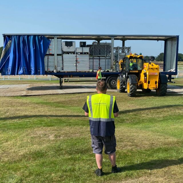 Gigs are back... Starting with Jess Glynne at @newcastleraces this Saturday! The trucks have arrived, the stage build is underway & we are looking forward to welcoming fans back to live music once again! 🤟 - Let's party together, safely.  - Gig tickets available HERE 🎟️ bit.ly/LAR_SHOWS 🎟️