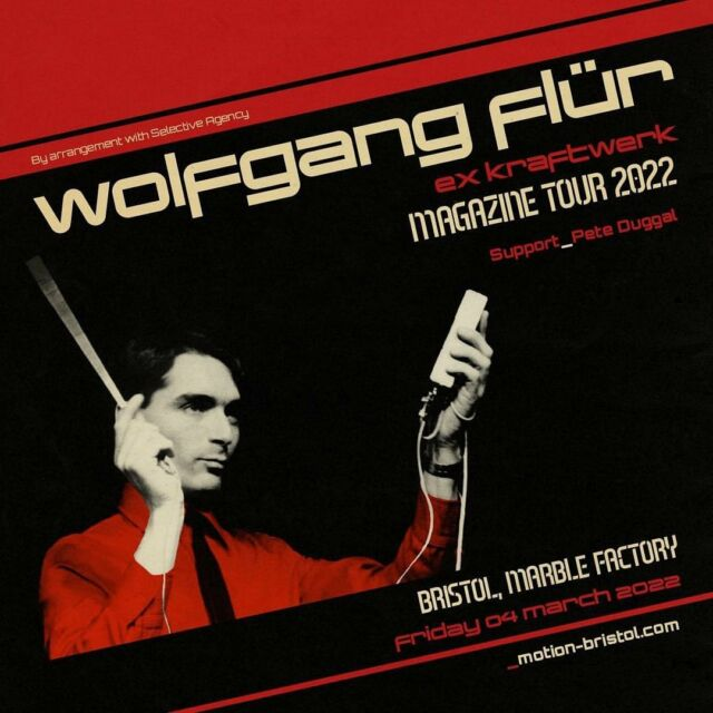 SHOWS ANNOUNCEMENT 🔊 We welcome Wolfgang Flür, once a member of the legendary innovators of electronic music, Kraftwerk. You can see him perform LIVE at @themarblefactory & @campandfurnace in 2022. 🎛 - Tickets on sale now 🎟️