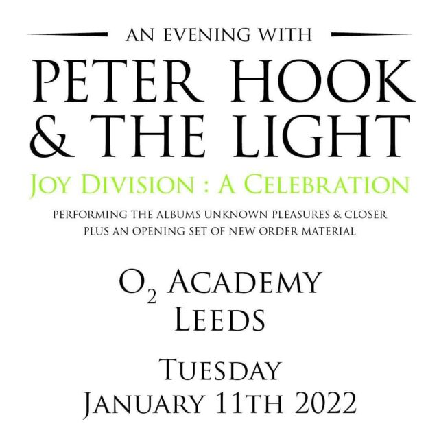 Fans of Joy Division and New Order, prepare for a memorable evening with Peter Hook & The Light at O2 Academy Leeds! - Tickets 🎟️ https://bit.ly/3ncQw6F