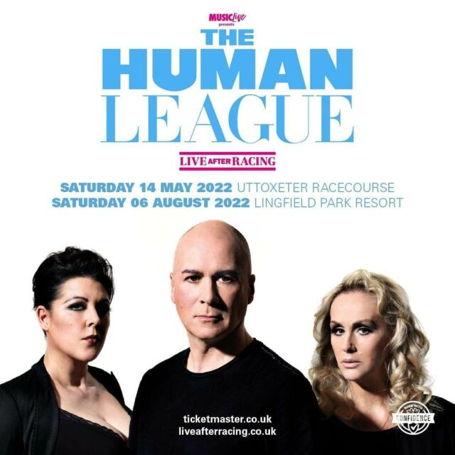 HUGE ANNOUNCEMENT 📣 @humanleaguehq return to play TWO racecourse shows at @uttoxeterraces and @lingfieldpark next summer (2022). 🐎 - Tickets will be available via Ticketmaster. Make sure you sign up to the @liveafterracing mailing list to get the pre-sale & on sale ticket links you need! 🎟️ - SIGN UP HERE 📧 bit.ly/LAR-MAILING-LIST - - -  #liveafterracing #humanleague #races