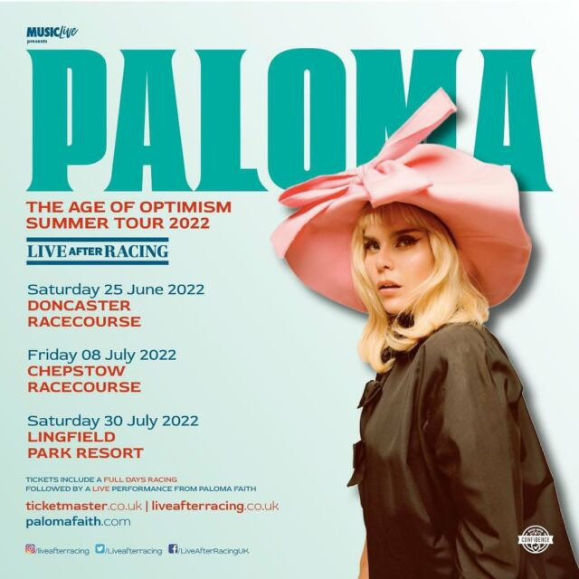 TICKETS ON SALE NOW 🚨 @palomafaith is heading on a huge SUMMER TOUR next year. 🐎 Join us at the shows and get your tickets below: --- @chepstowracecourse 🎟️ bit.ly/PALOMA-CHEP-OS @lingfieldpark 🎟️ bit.ly/PALOMA-LING-OS @doncasterraces 🎟️ bit.ly/PALOMA-DON-OS